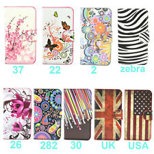 Wallet Flower Stand Leather Flip Case For Samsung Galaxy Ace 3 S7272