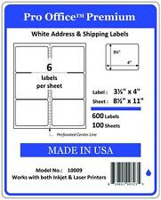 "PO09 Pro Office Self-Adhesive Premium shipping Labels 4"" x 3.33"" for USPS Paypal"
