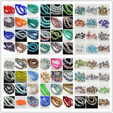 Bulk Lots 50Pcs 8x6mm Rondelle Faceted Glass Loose Beads Spacer Finding 135Color