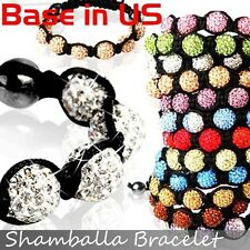 Hot Selling Handmade 6 pcs Shamballa Bracelets Disco Balls CZ Crystal US Seller
