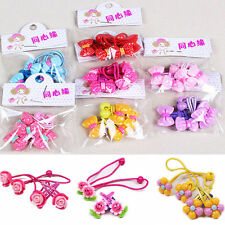4pcs Baby Kids Girl Hair Ropes Bands Clips Headbands Cute Accessories Set