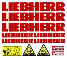 Decal Sticker Graphics for LIEBHERR. Mini Digger Bagger Pelle Excavator