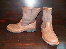 NEW MENS UGG HARTSVILLE Chocolate Brown Biker Work Boots Leather Insole
