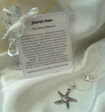 Starfish story 'Cheer up necklace' - novelty gift, present