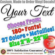 Custom Text Name Quote Vinyl Car Lettering Auto Truck Personalized Decal Sticker