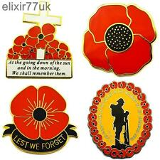 NEW POPPY SOLDIER CROSS LAPEL PIN BADGE REMEMBRANCE lest we forget remember them