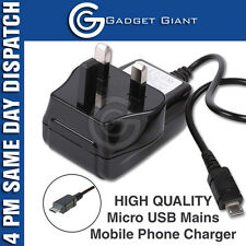 NEW CE 3 PIN UK MICRO USB MAINS WALL CHARGER ADAPTER FOR VARIOUS PHONE MODELS