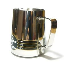 Smart Pitcher Milk Frothing Steaming Stainless Jug in Thermo 12oz 20oz 32oz