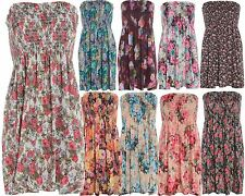 New Womens Plus Size Printed Sheering Tropical Boob Tops Floral Tunics 8-22