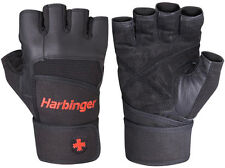 Harbinger 140 Pro Wristwrap Weight Lifting Gloves