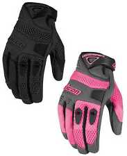 Icon Womens Anthem Goatskin Leather Mesh Motorcycle Gloves All Sizes