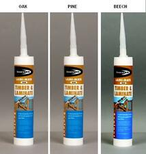 Oak, Pine & Beech Timber & Laminate Floor Board Sealant & Gap Colour Filler