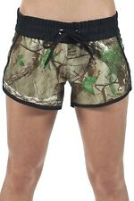 Ten-80 Ladies Real Tree Extra Green Girls Women Bassassin Boardshorts Swim CAMO