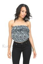 Drunk In Love tube blouse, blue ~ crop top shirt CUTE +YOUTUBE
