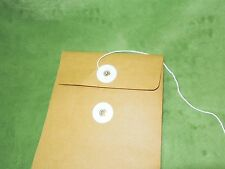 """Kraft Paper  with String-Tie Envelopes Mailer Bags 5 x 7, 6 x 9, 7 x10, 8 x 11"""""""