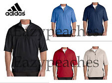 ADIDAS GOLF Mens S-2XL 3XL Climalite 1/2 Zip Short Sleeve Wind shirt Jacket Top