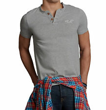 Hollister by Abercrombie Men Emerald Cove Seagull Henley T-shirt - Free $0 Ship