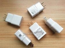 OEM LOT White 2A 5.0V AC USB Home Wall Charger for Samsung Note 3 Galaxy S5 NEW