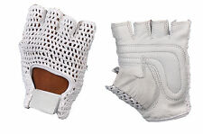 MESH LEATHER GYM GLOVES WEIGHT TRAINING FITNESS POWER LIFTING BIKE SPORTS