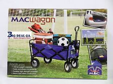 New Mac Sports Collapsible Folding Utility Wagon Garden Cart Shopping Beach blue
