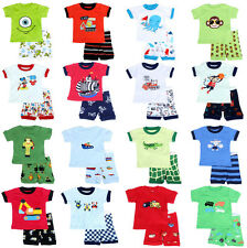 More than 60 Types Boys cotton Short sleeve Pajamas set Baby Toddler Kid's 2T-7T