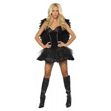 Black Swan Costume Adult Sexy Ballerina Dark Angel Halloween Fancy Dress