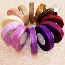 3mm 9mm 19mm 25mm 38mm Purple Series Wedding Party Organza Ribbon Favour Decor