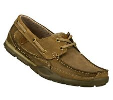 64091 BEIGE SKECHERS SHOES MEN'S NEW MEMORY FOAM RELAXED FIT CASUAL COMFORT BOAT