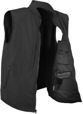 Black Concealed Carry Tactical Soft Shell Military Vest
