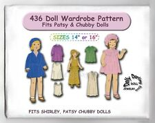 """Patsy, Shirley  Fits Doll Wardrobe Pattern for Dolls 14"""" or 16"""" Vintage #436"""