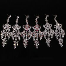 Fashion Earring Jewelry Crystal Rhinestone Chandelier Dangling Earring Women New