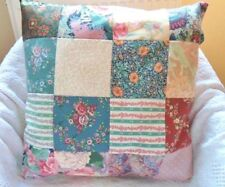"Patchwork Cushion Craft Kit Vintage Fabric 100% Cotton 5"" Squares Sewintocrafts!"