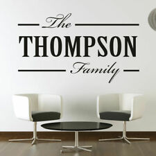 Personalised Family Surname Customisable Name Wall Art Sticker (AS10098)