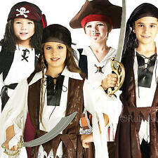 Caribbean Pirate Kids Fancy Dress Book Week Child Girls Boys Childrens Costumes
