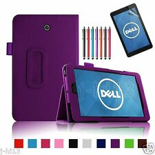 """Folio Leather Case Cover+Gift For 7"""" Dell Venue 7 3730 Android Tablet DZWY"""