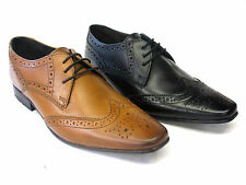 Men Base London Formal Dress Lace Up Leather Shoes Charles MTO Brogue Detail