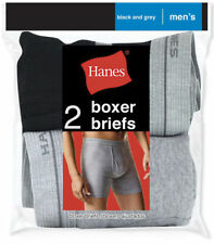 Hanes Men's Red Label Boxer Brief Blk/Grey, 2 Pack. 2349VT