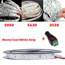 5M Waterproof 3528 5050 5630 LED Flexible Strip Light Tape Roll Warm Cool White