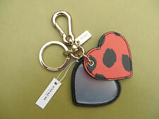 COACH Purse handbags key ring Keychain fob Chain Leather charm Purse 68557 NEW
