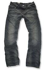 JACK & JONES - CLARK ORIGINAL - DARK GREY - Regular Fit - Herren Jeans Hose