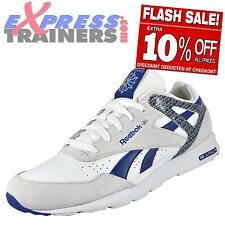 Reebok Classic Mens Record Mile Running Gym Casual Trainer White *AUTHENTIC *