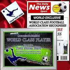 Personalised World Class Football Player Gift Set perfect for Stoke City fan