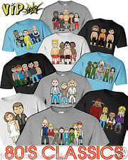 VIPwees Mens T-Shirt 80`s Classic Movies Inspired Caricatures Choose Your Design