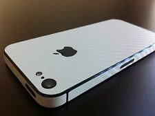 Carbon Fibre Full Body Decal Skin Protector Sticker For Apple iPhone 4 4S 5 5S