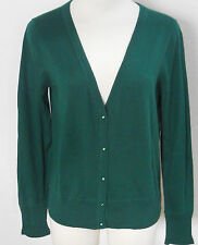 BANANA REPUBLIC Women's Green Light Weight Cardigan Sweater PETITE Size PM