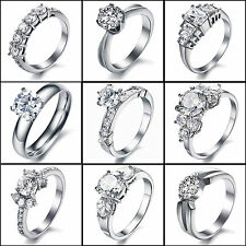 Titamnium Stainless Steel Wedding Anniversary Engagement Bands Rings Best Gift