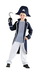 PIRATE CAPTAIN CHILD COSTUME CARIBBEAN FANCY DRESS ALL AGES