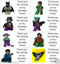 40 x Personalised Lego Batman/Joker labels/stickers/party/sweets/bags