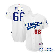 2014 Yasiel Puig Los Angeles Dodgers Authentic Home Cool Base Jersey (40-52)