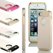 Gold PC Shockproof Dust Proof Hard Matte Cover Case For iPhone 5 5s Stylus+Film